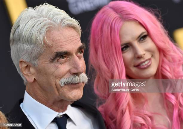 Sam Elliott and daughter Cleo Rose Elliott attend the premiere of Warner Bros Pictures' 'A Star Is Born' at The Shrine Auditorium on September 24...