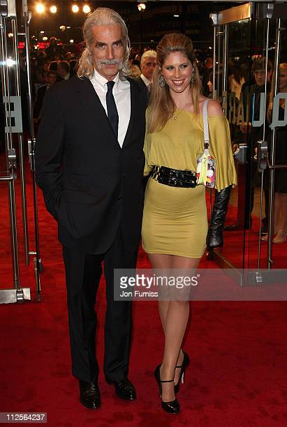 Sam Elliott and guest attends The Golden Compass world premiere held at the Odeon Leicester Square on November 27 2007 in London England
