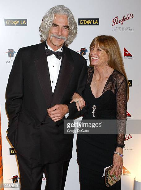 Sam Elliott and Katherine Ross during 2nd Annual Penfolds Gala Black Tie Dinner Arrivals at Century Plaza Hotel in Century City California United...