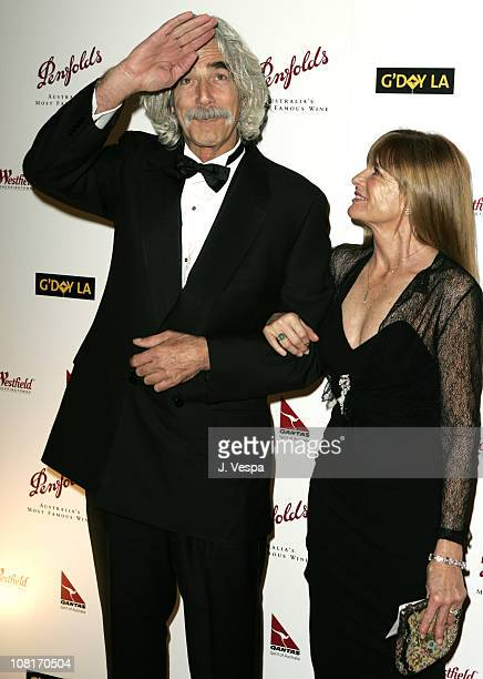 Sam Elliott and wife Katherine Ross during 2nd Annual Penfolds Gala Black Tie Dinner Red Carpet at Century Plaza Hotel in Los Angeles California...