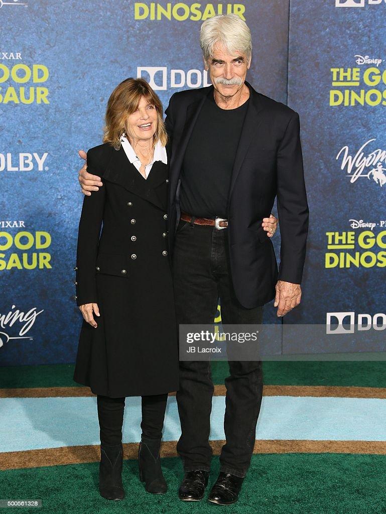 Sam Elliott arrives at the premiere of Disney-Pixar's 'The Good Dinosaur' on November 17, 2015 in Hollywood, California.