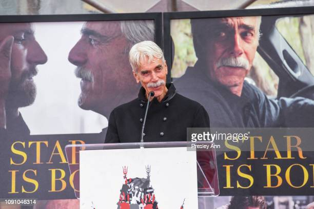 Sam Elliott attends his hand and footprint ceremony at TCL Chinese Theatre on January 07 2019 in Hollywood California