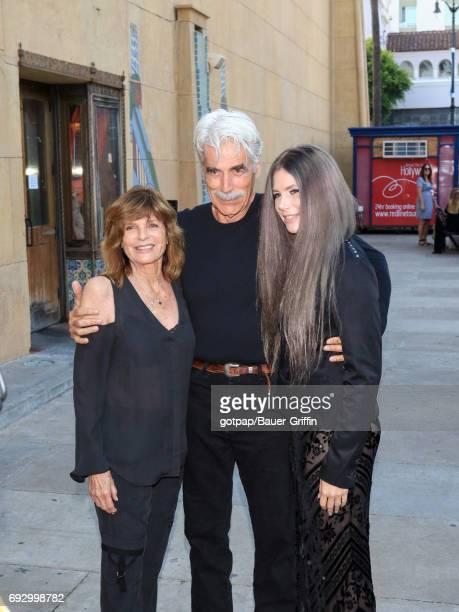 Sam Elliott Katharine Ross and daughter Cleo Rose Elliott are seen on June 05 2017 in Los Angeles California