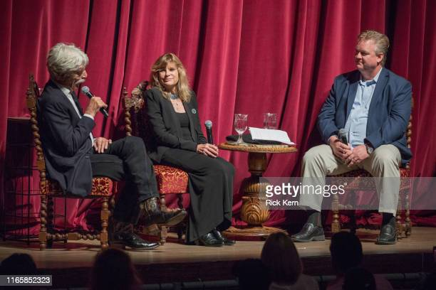 Sam Elliott Katharine Ross and Director Program Production at Turner Classic Movies and FilmStruck Scott McGee attend a 50th anniversary screening of...