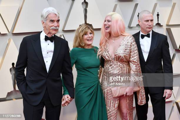 Sam Elliott, Katharine Ross, Cleo Rose Elliott, and Randy Christopher attend the 91st Annual Academy Awards at Hollywood and Highland on February 24,...