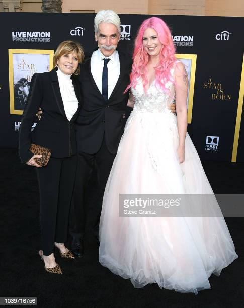 "Sam Elliott, Katharine Ross;Cleo Rose Elliott arrives at the Premiere Of Warner Bros. Pictures' ""A Star Is Born"" at The Shrine Auditorium on..."