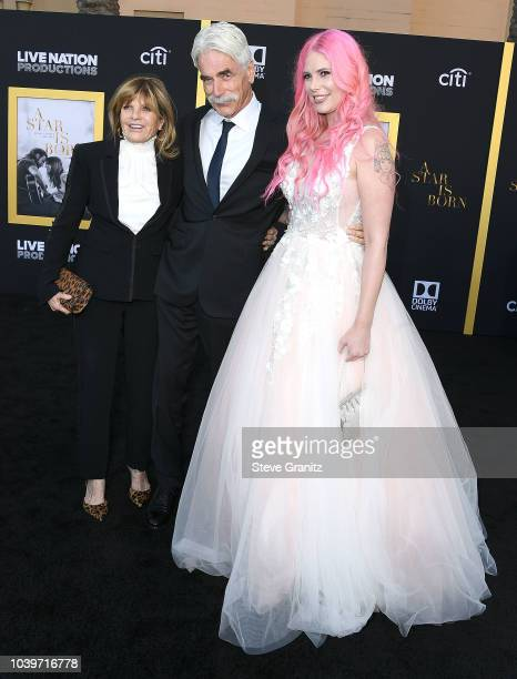Sam Elliott Katharine RossCleo Rose Elliott arrives at the Premiere Of Warner Bros Pictures' A Star Is Born at The Shrine Auditorium on September 24...