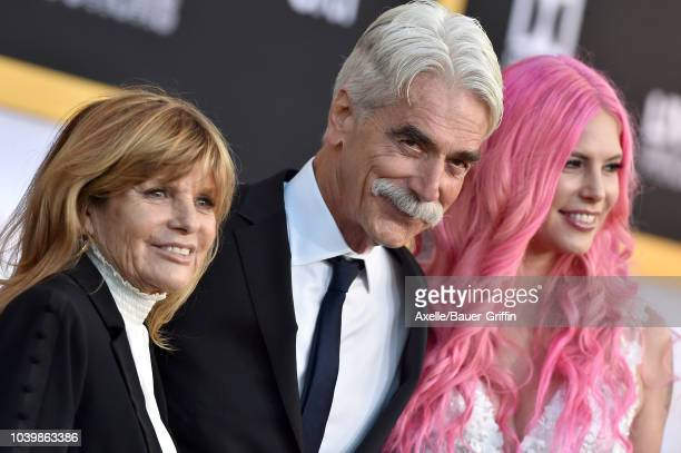 Sam Elliott wife Katharine Ross and daughter Cleo Rose Elliott attend the premiere of Warner Bros Pictures' 'A Star Is Born' at The Shrine Auditorium...