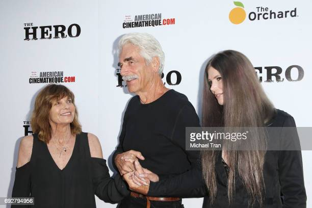 Sam Elliott with wife Katharine Ross and daughter Cleo Rose Elliott arrive at the Los Angeles premiere of The Hero held at the Egyptian Theatre on...