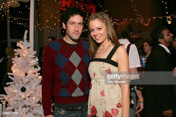 Sam Endicott of The Bravery and Rachel Boston during KROQ Almost Acoustic Christmas 2005 Day 2 Backstage at Gibson Amphitheater in Los Angeles...