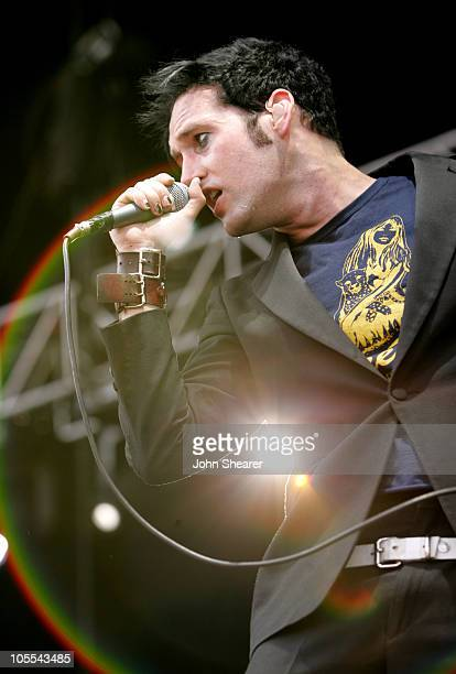 Sam Endicott of The Bravery during KROQ Inland Invasion 5 Show at Hyundai Pavilion at Glen Helen in Devore California United States