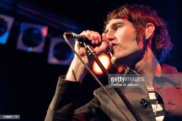 Sam Endicott of The Bravery performs on stage at O2 Academy on February 5 2011 in Newcastle upon Tyne England