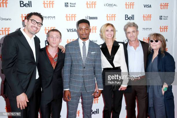 Sam Esmail Jeremy Allen White Stephan James Julia Roberts Dermot Mulroney and Sissy Spacek attend the Homecoming premiere during 2018 Toronto...