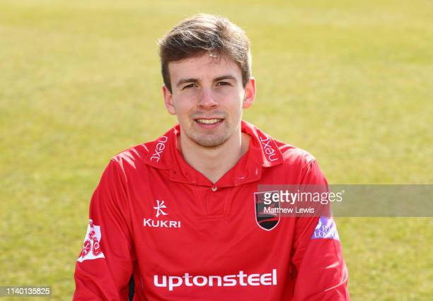 Sam Evans of Leicestershire CCC pictured during the Leicestershire CCC Photocall at Grace Road on April 03 2019 in Leicester England