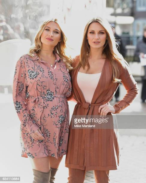 Sam Faiers and Billie Faiers At The Minnie's Beauty Bus Photocall on February 7 2017 in London United Kingdom