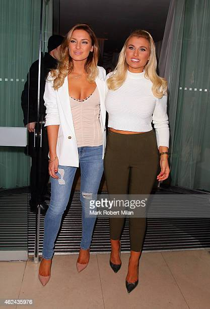 Sam Faiers and Billie Faiers at the Sanderson Hotel on January 28 2015 in London England