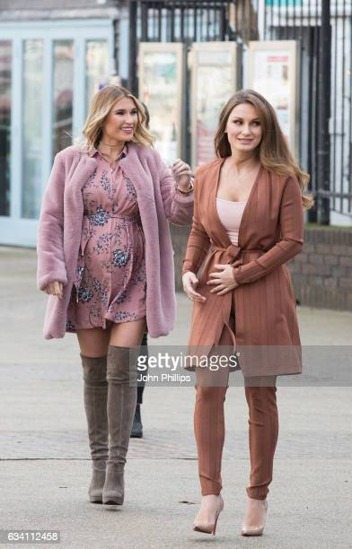 Sam Faiers and Billie Faiers attend The Minnie's Beauty Bus Photocall on February 7 2017 in London United Kingdom