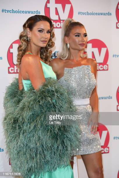 Sam Faiers and Billie Faiers attend The TV Choice Awards 2019 at Hilton Park Lane on September 9 2019 in London England