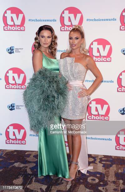 Sam Faiers and Billie Faiers attend The TV Choice Awards 2019 at Hilton Park Lane on September 09, 2019 in London, England.