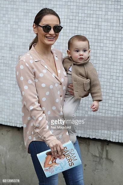 Sam Faiers and her baby Paul seen leaving the ITV Studios after appearing on Loose Women on January 10 2017 in London England