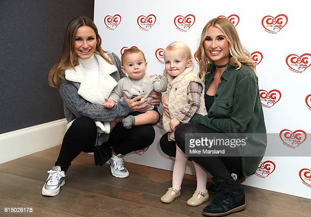 Sam Faiers and son Paul with Billie Faeirs and daughter Nellie attending the CG baby club 'The Happy Song' Launch Event at Ham Yard Hotel on October...