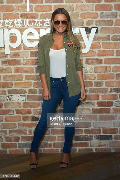 Sam Faiers arrives for The Official Idris Elba Superdry Presentation at LCM Superdry International Showroom on June 11 2015 in London England