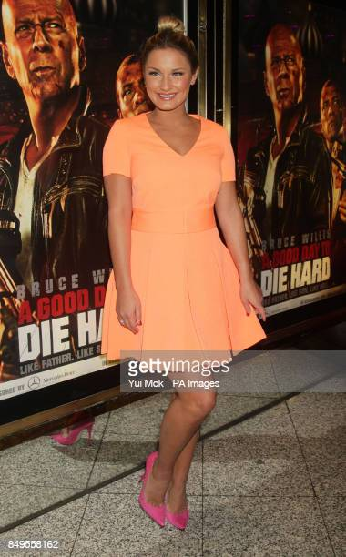 Sam Faiers arriving for the UK film premiere of A Good Day To Die Hard at the Empire Leicester Square in central London