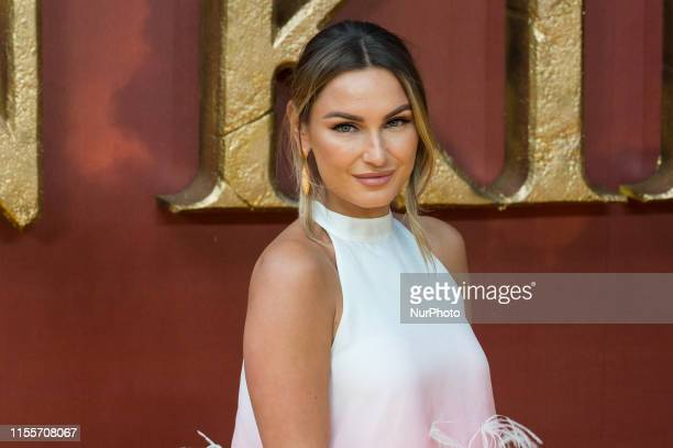 Sam Faiers attends the European film premiere of Disney's 'The Lion King' at Odeon Luxe Leicester Square on 14 July 2019 in London England