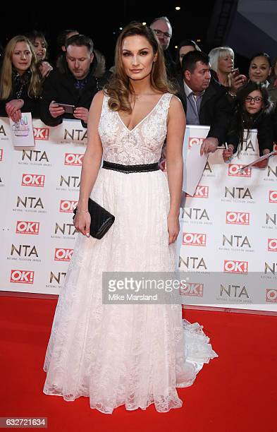 Sam Faiers attends the National Television Awards at The O2 Arena on January 25 2017 in London England