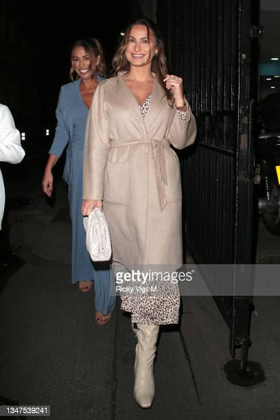 Sam Faiers seen attending In The Style's x Billie and Suzie'e launch party at Piazza Italiana on October 19, 2021 in London, England.