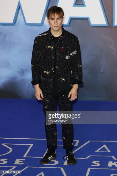 Sam Fender attends Star Wars The Rise of Skywalker European Premiere at Cineworld Leicester Square on December 18 2019 in London England