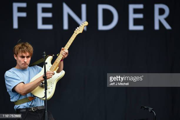 Sam Fender perform on the main stage during the TRNSMT Festival at Glasgow Green on July 13 2019 in Glasgow Scotland Tens of thousands of people will...