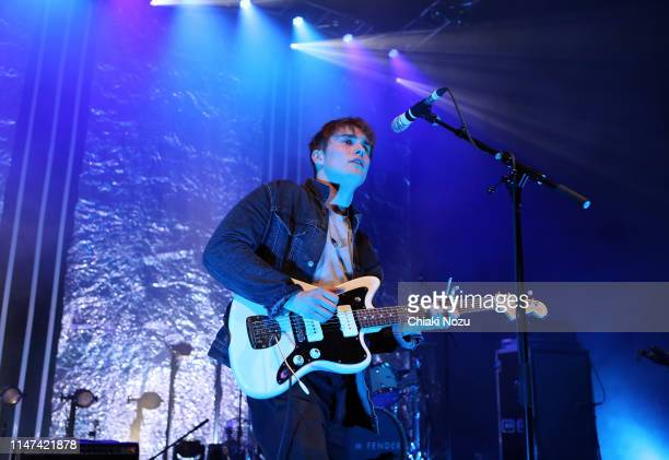 Sam Fender performs on stage at Shephards Bush Empire on May 06 2019 in London England