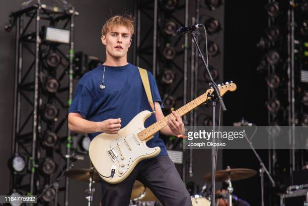 Sam Fender performs on stage during Day 1 of Fusion Festival 2019 on August 30 2019 in Liverpool England