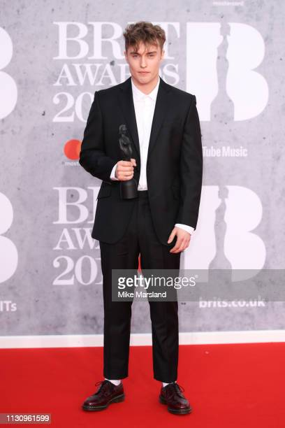 Sam Fender winner of the Brits Critics Choice award attends The BRIT Awards 2019 held at The O2 Arena on February 20 2019 in London England
