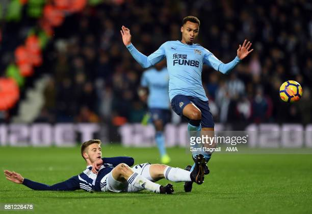 Sam Field of West Bromwich Albion and Jacob Murphy of Newcastle United during the Premier League match between West Bromwich Albion and Newcastle...