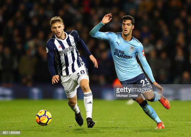 Sam Field of West Bromwich Albion and Mikel Merino of Newcastle United during the Premier League match between West Bromwich Albion and Newcastle...
