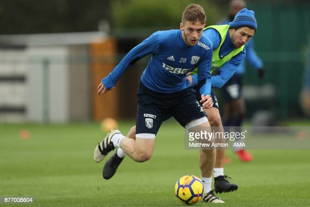 Sam Field of West Bromwich Albion during a training session on November 21 2017 in West Bromwich England