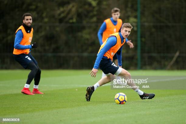 Sam Field of West Bromwich Albion during training on December 5 2017 in West Bromwich England