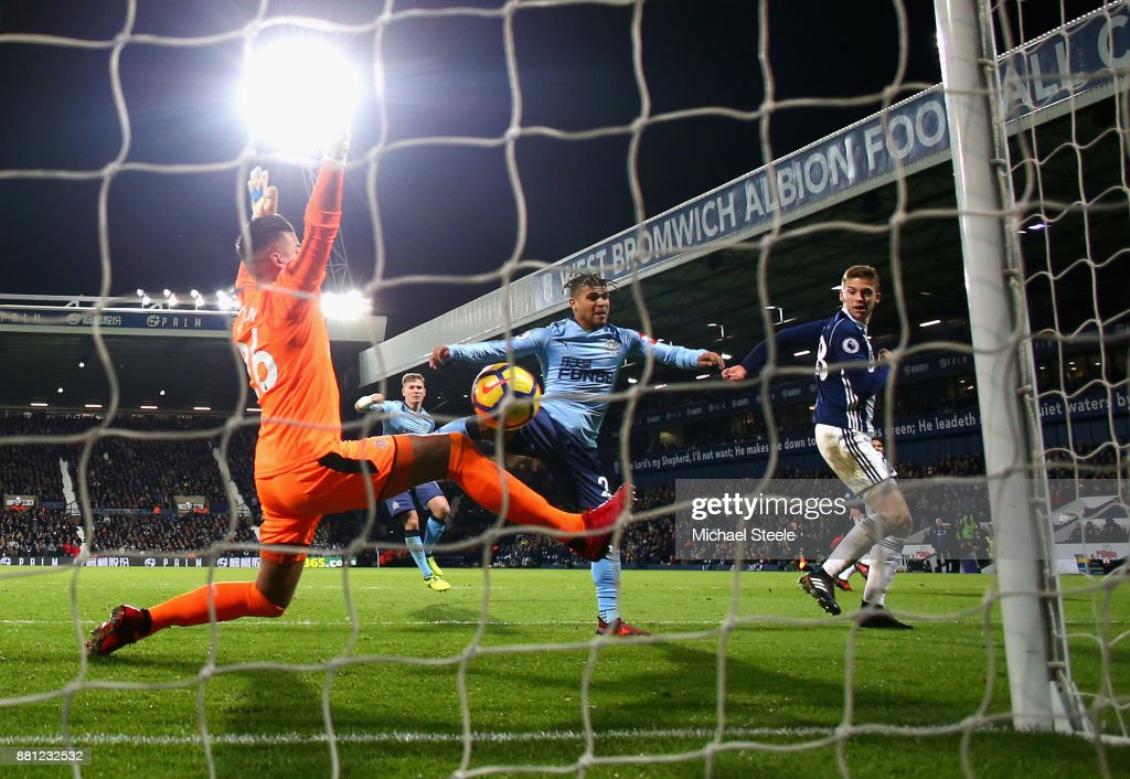 Sam Field of West Bromwich Albion scores the 2nd West Brom goal during the Premier League match between West Bromwich Albion and Newcastle United at The Hawthorns on November 28, 2017 in West Bromwich, England.