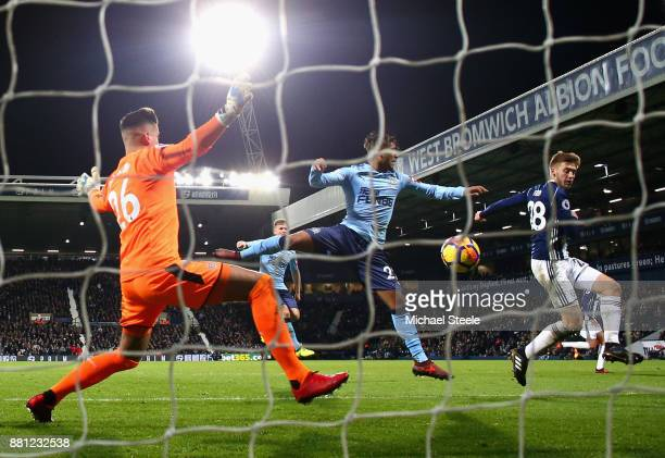 Sam Field of West Bromwich Albion scores the 2nd West Brom goal during the Premier League match between West Bromwich Albion and Newcastle United at...