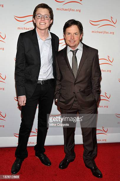 Sam Fox and Michael J Fox attend the 2011 A Funny Thing Happened On The Way To Cure Parkinson's event at The Waldorf=Astoria on November 12 2011 in...