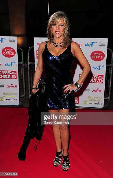 Sam Fox arrives at the Children's Champions 2010 Awards at the Grosvenor House Hotel on March 3 2010 in London England