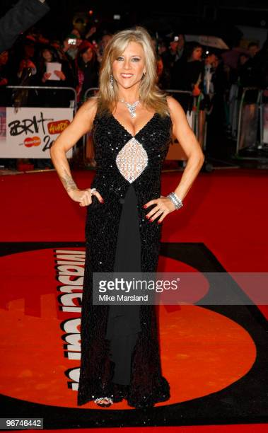 Sam Fox attends The Brit Awards 2010 at Earls Court on 16th February 2009 in London England