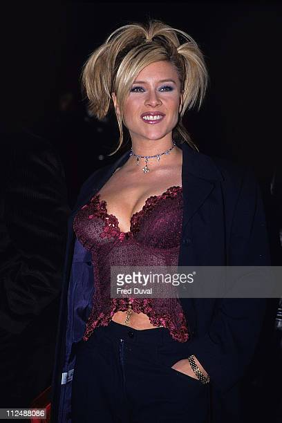 Sam Fox during The Brit Awards 1998 at Alexandra Palace in London United Kingdom