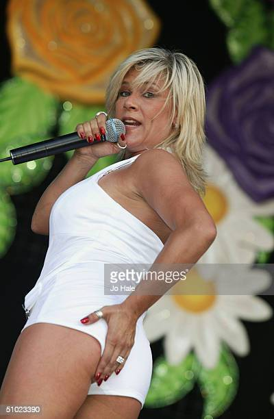 Sam Fox performs at the official Pride Parade aftershow 'Big Gay Out' as part of the Pride London festival in Finsbury Park on July 3 2004 in London