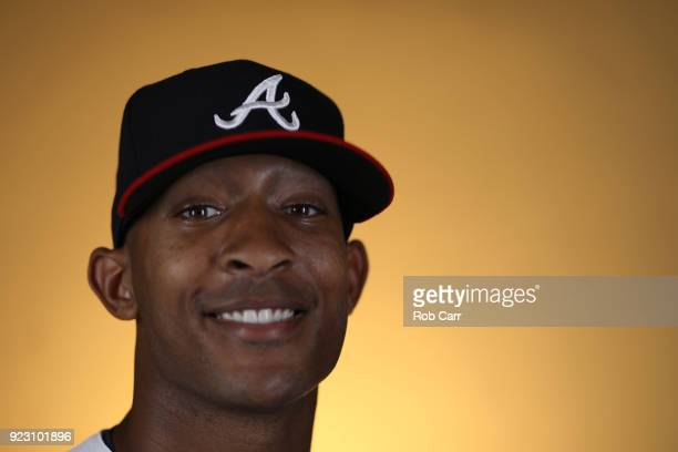 Sam Freeman of the Atlanta Braves poses for a photo during photo days at Champion Stadium on February 22 2018 in Lake Buena Vista Florida