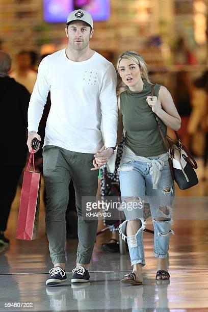 Sam Frost and partner Sasha Mielczarek on August 20 2016 in Sydney Australia