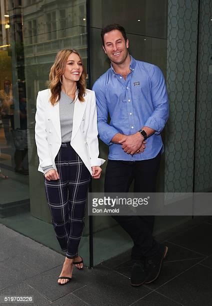 Sam Frost and Sasha Mielczarek attend the launch of Australia's Biggest Blood Pressure Check on April 8 2016 in Sydney Australia