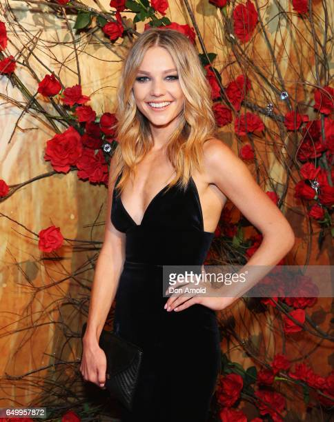 Sam Frost arrives ahead of the Beauty And The Beast Australian Premiere at State Theatre on March 9 2017 in Sydney Australia